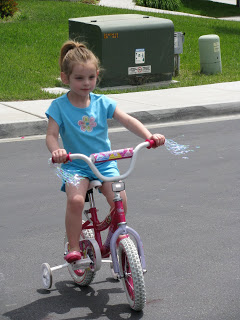 Bike ride with daddy…