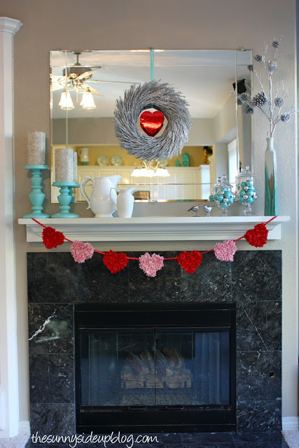 Valentine mantel and a rough day