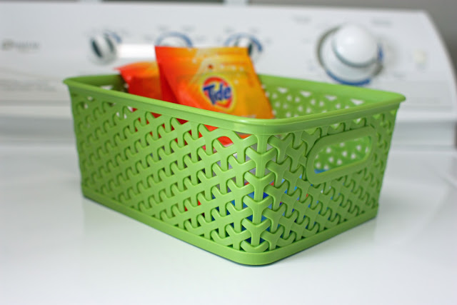 Organized Laundry Room Cupboards