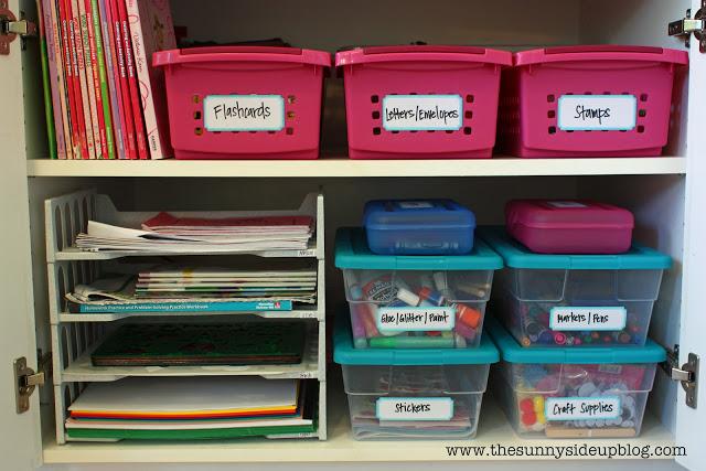 Organized Craft Cupboard