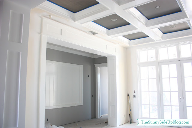 Paint progress the sunny side up blog for Box beam ceiling