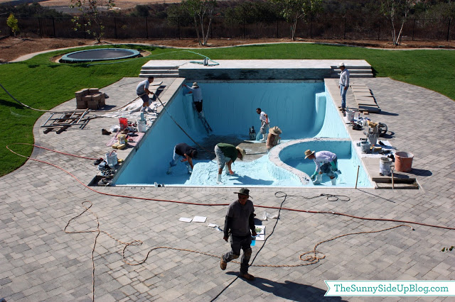 Pool Plaster Mix : Plastering the pool sunny side up