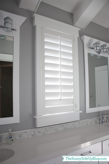 Girls 39 bathroom questions answered the sunny side up blog - Plantation shutters for bathroom ...
