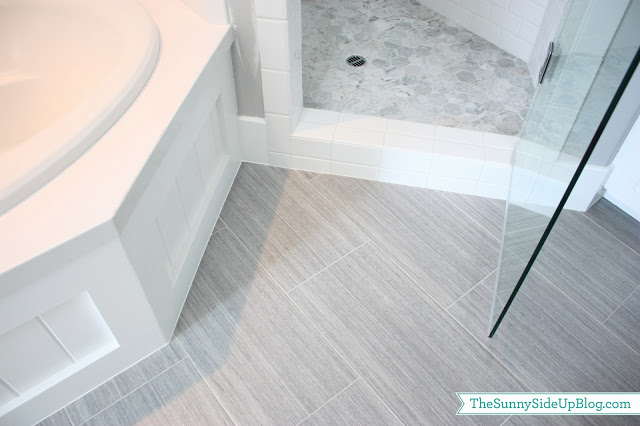 Larger Marble Hexagons For The Shower Floor The Bench Seat Is The