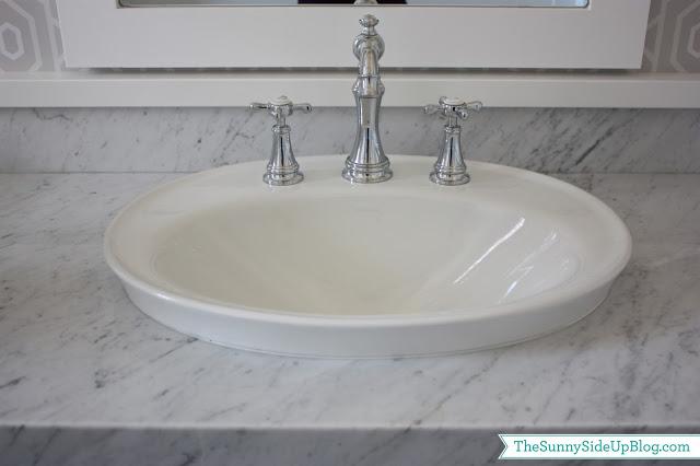 powder bathroom the side up