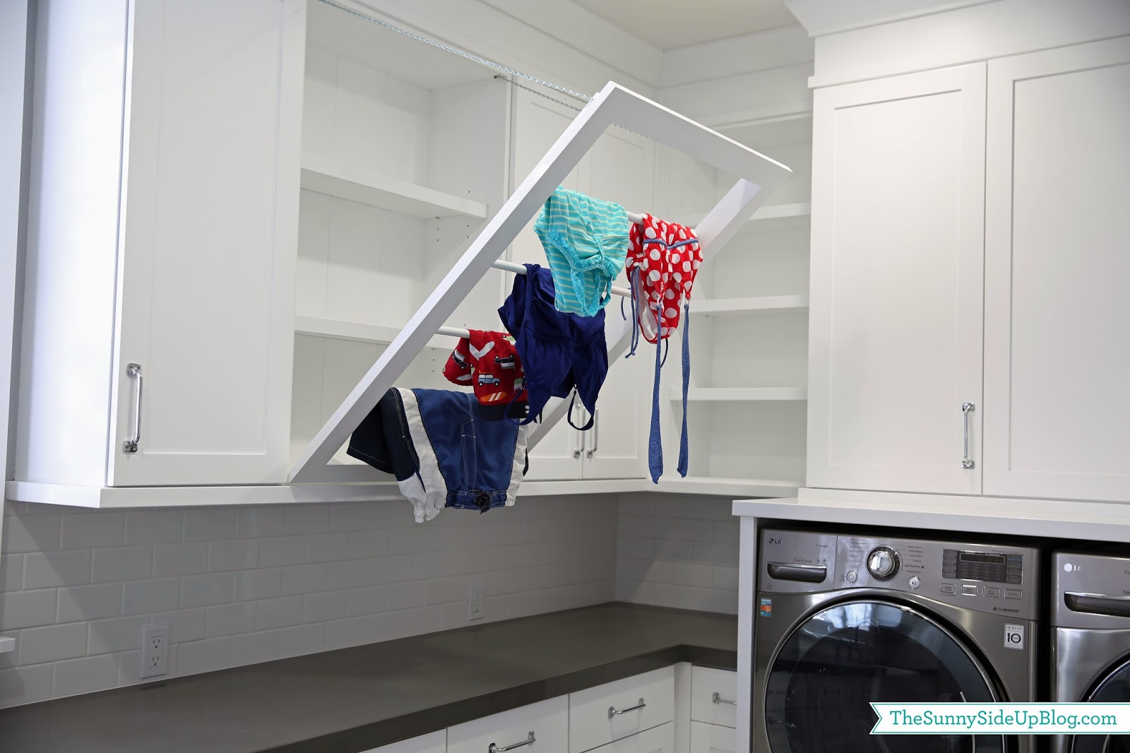 downstairs laundry room the sunny side up blog. Black Bedroom Furniture Sets. Home Design Ideas