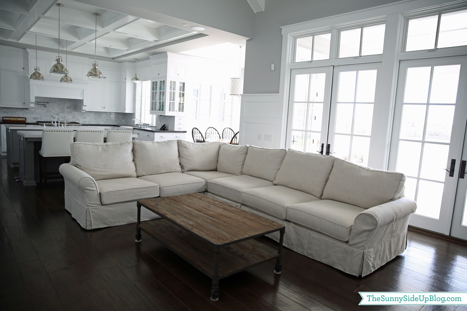 Restoration Hardware Dutch Industrial Coffee Table.Family Room Decor Update The Sunny Side Up Blog