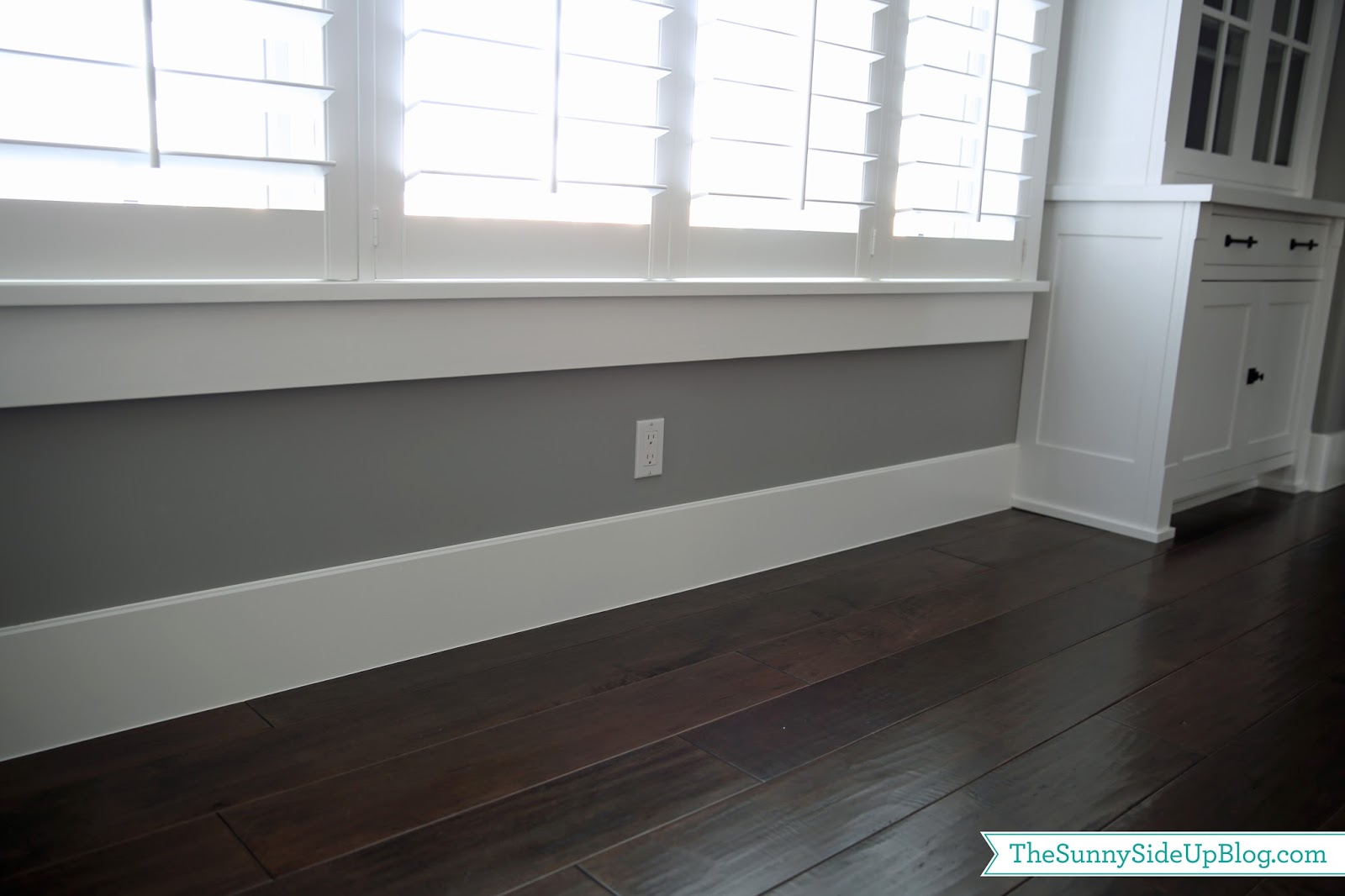 Formal dining room decor plan the sunny side up blog for Baseboard and door trim