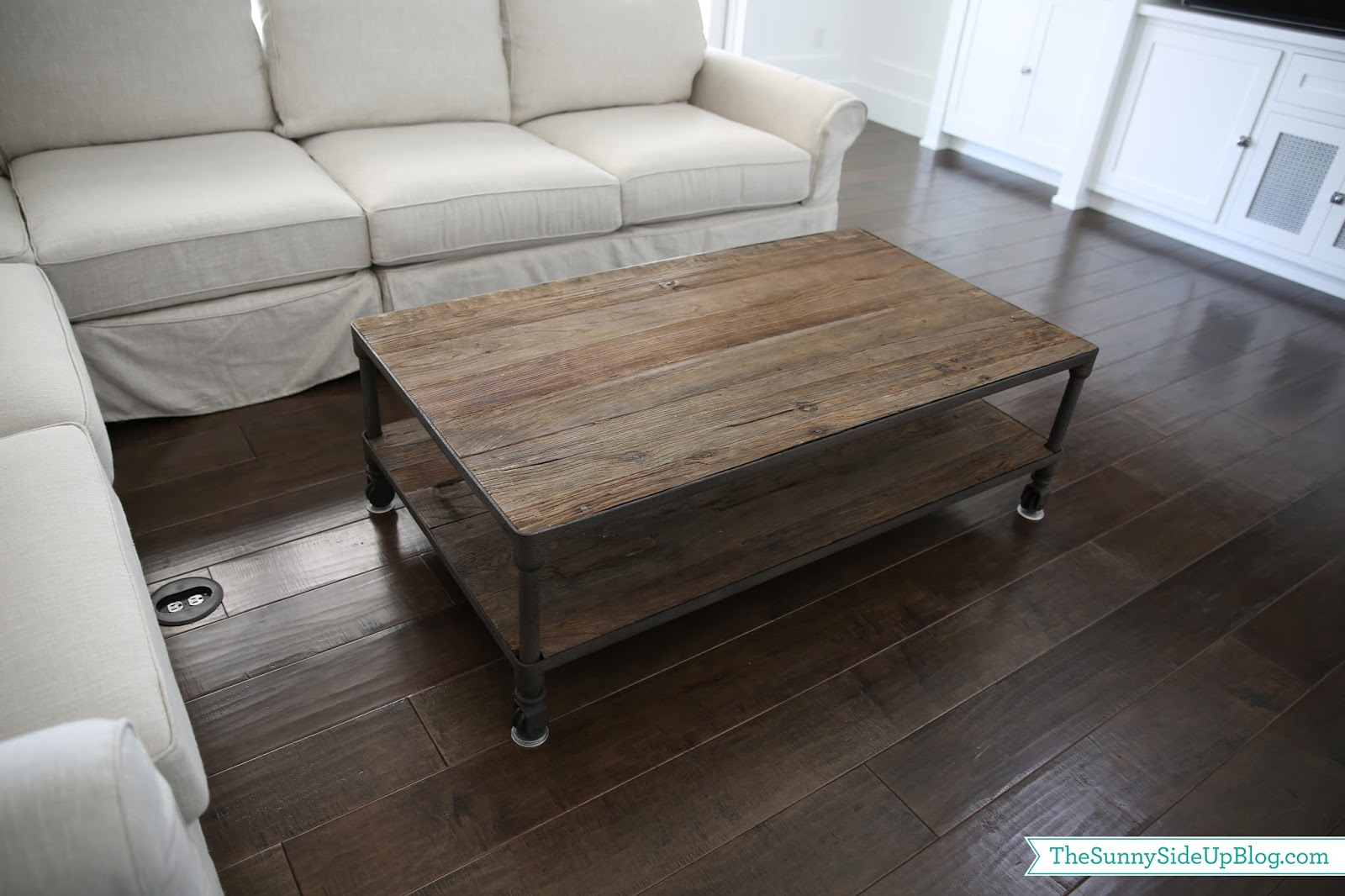 Wood Planked Coffee Table