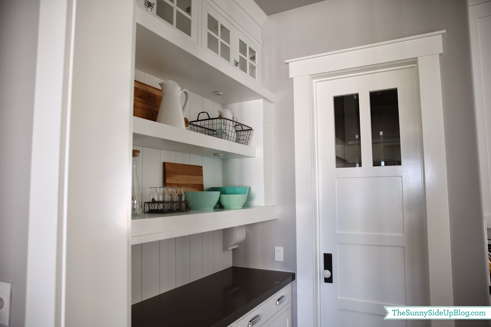Butler's Pantry Shelves (decorated!) - The Sunny Side Up Blog
