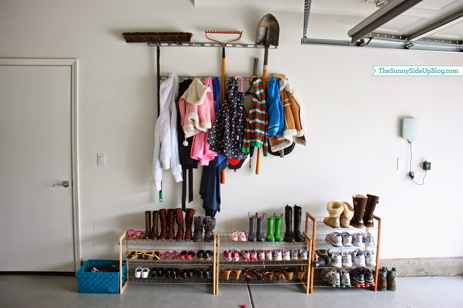 My new organized mudroom the sunny side up blog for Garage mudroom