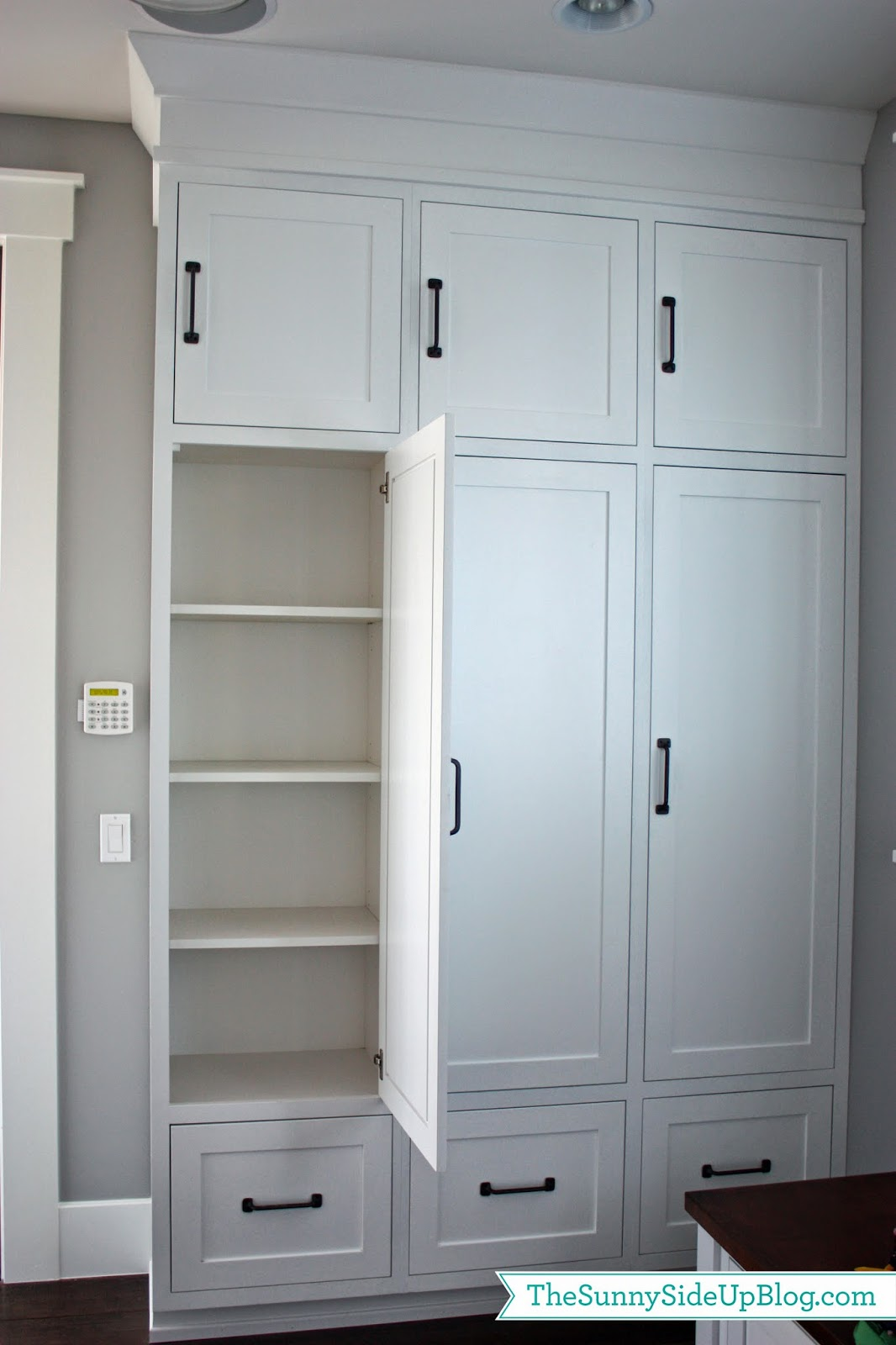 Foyer Built In Cabinets : My new organized mudroom the sunny side up