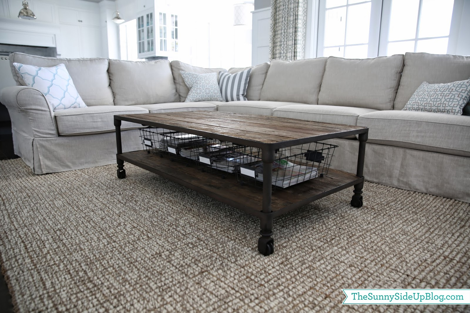 Coffee Table With Baskets Coffee Drinker