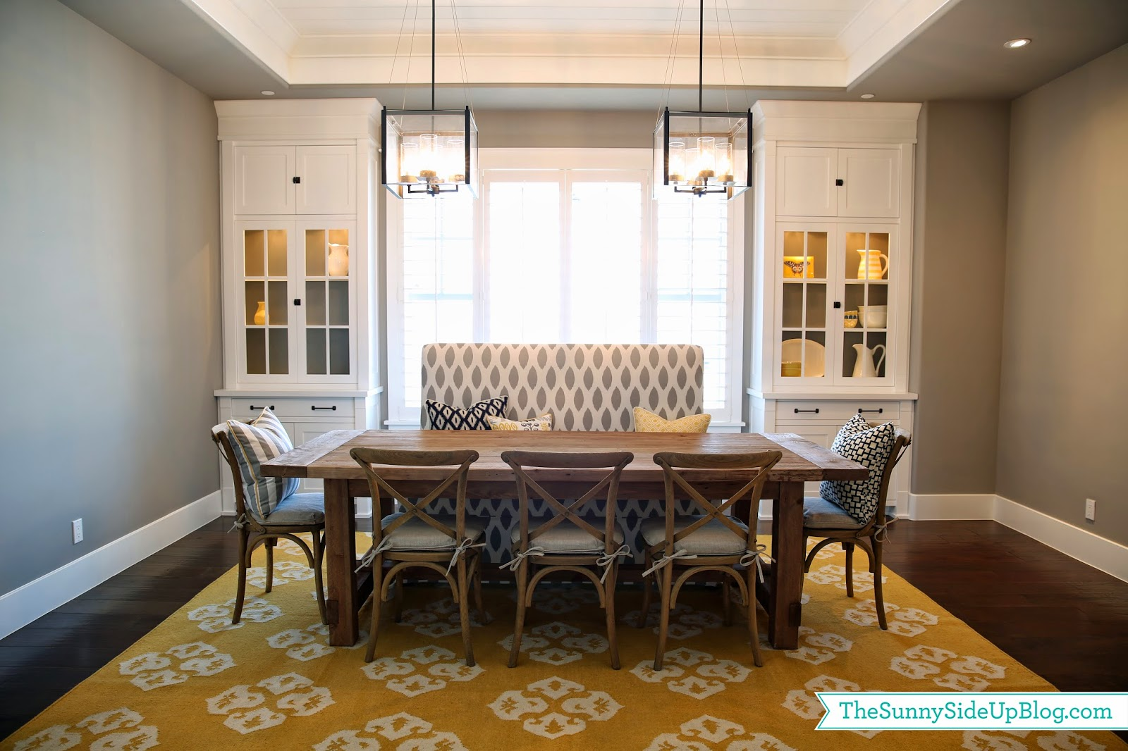 Need help with my dining room - Dining Room Decor Update Bench Chairs Pillows The Sunny Side Up Blog