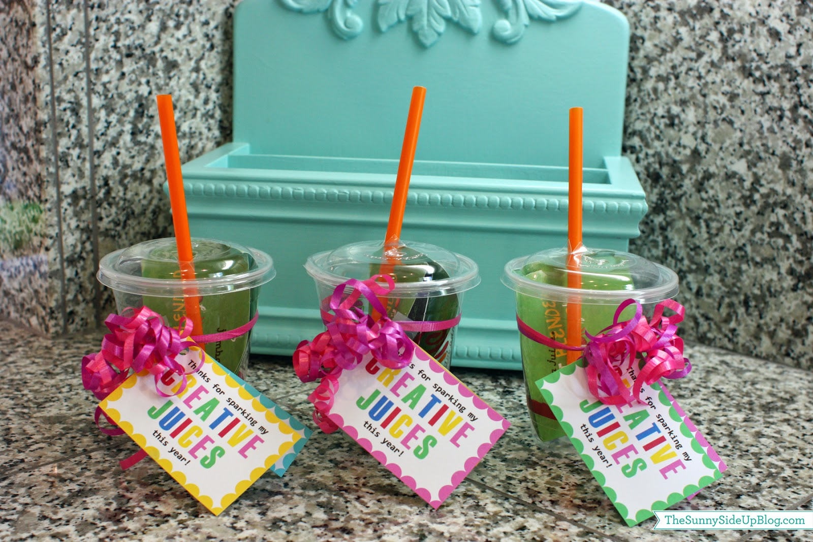 Teacher gift ideas the sunny side up blog last year we gave teachers a cup from jamba juice with a gift card inside of it i got the idea from tatertots and jello she also has the creative juices negle Gallery