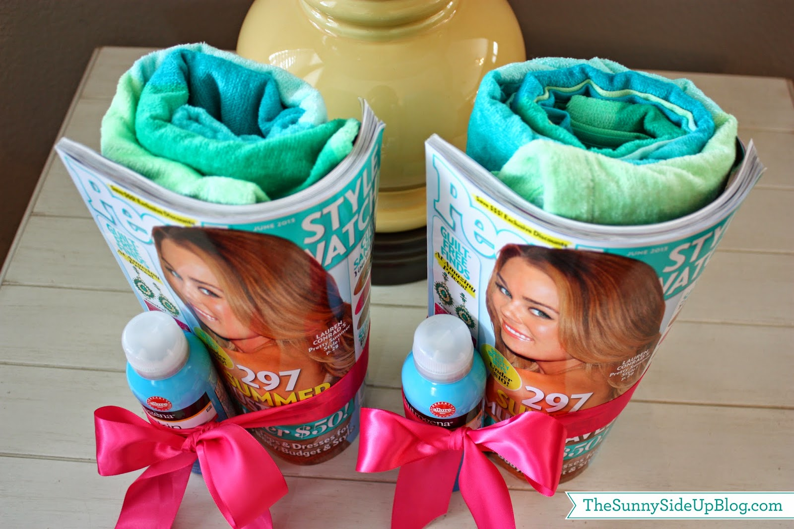 Pool Gift Ideas pool party 5th birthday t shirt I Just Rolled The Towels Up And Wrapped The Magazine Around Them And Tied It All With A Bow So Simple Ive Also Given A Gift Card To Get A Pedicure With