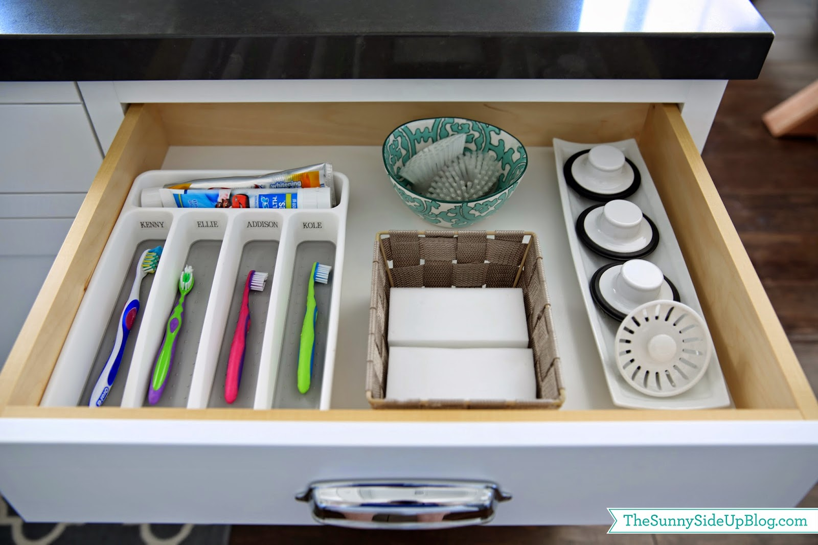 organized kitchen sink drawer - Kitchen Sink Drawer