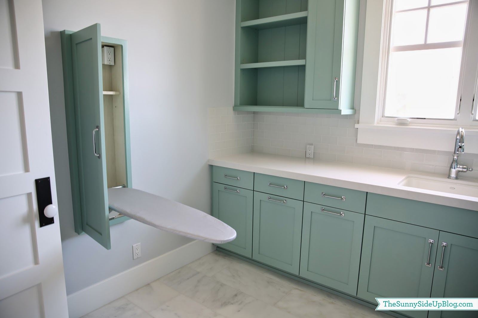 Built In Iron ~ Upstairs laundry room the sunny side up