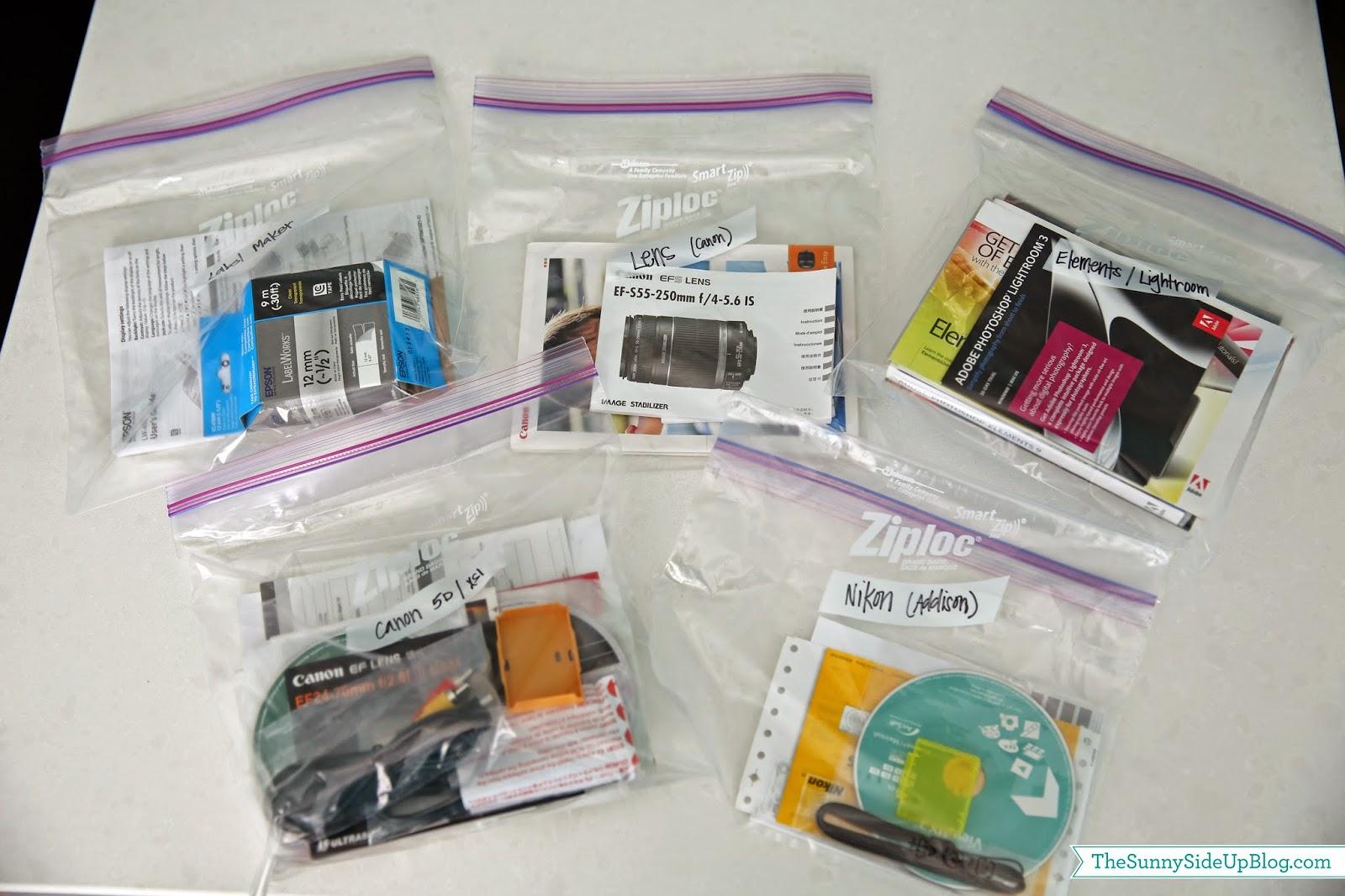 Organizing Camera Equipment