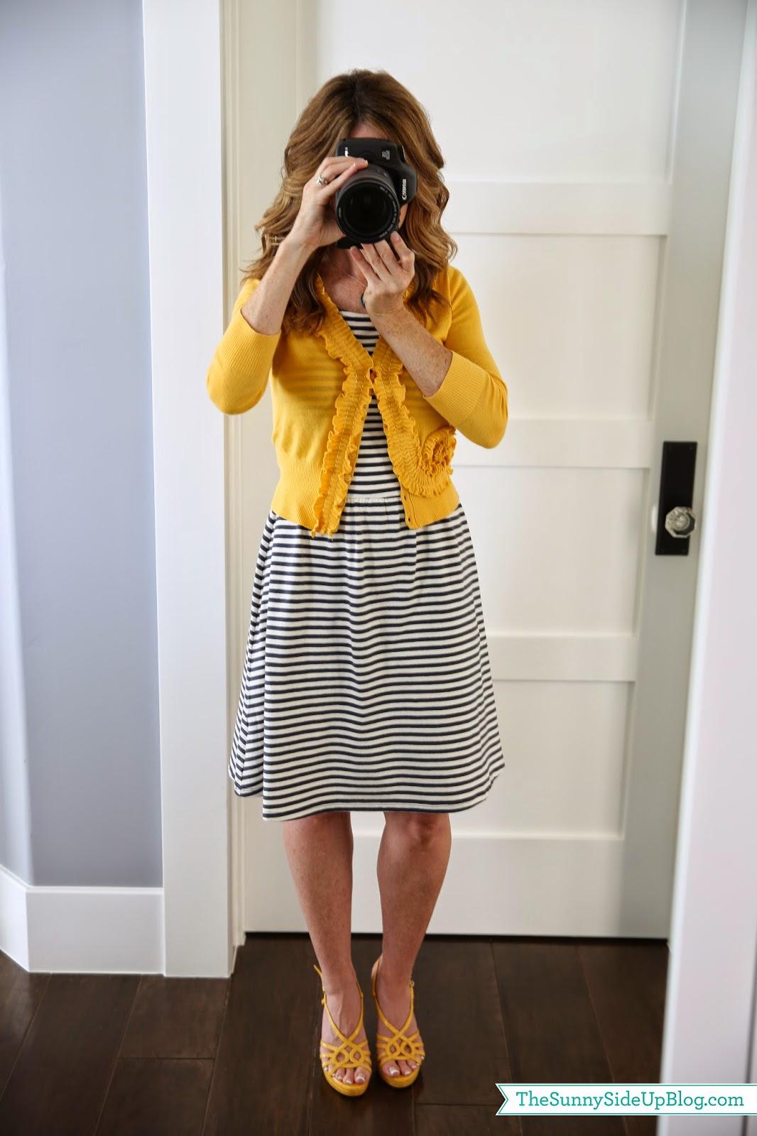 Fashion Friday (striped sleeveless jersey dress)