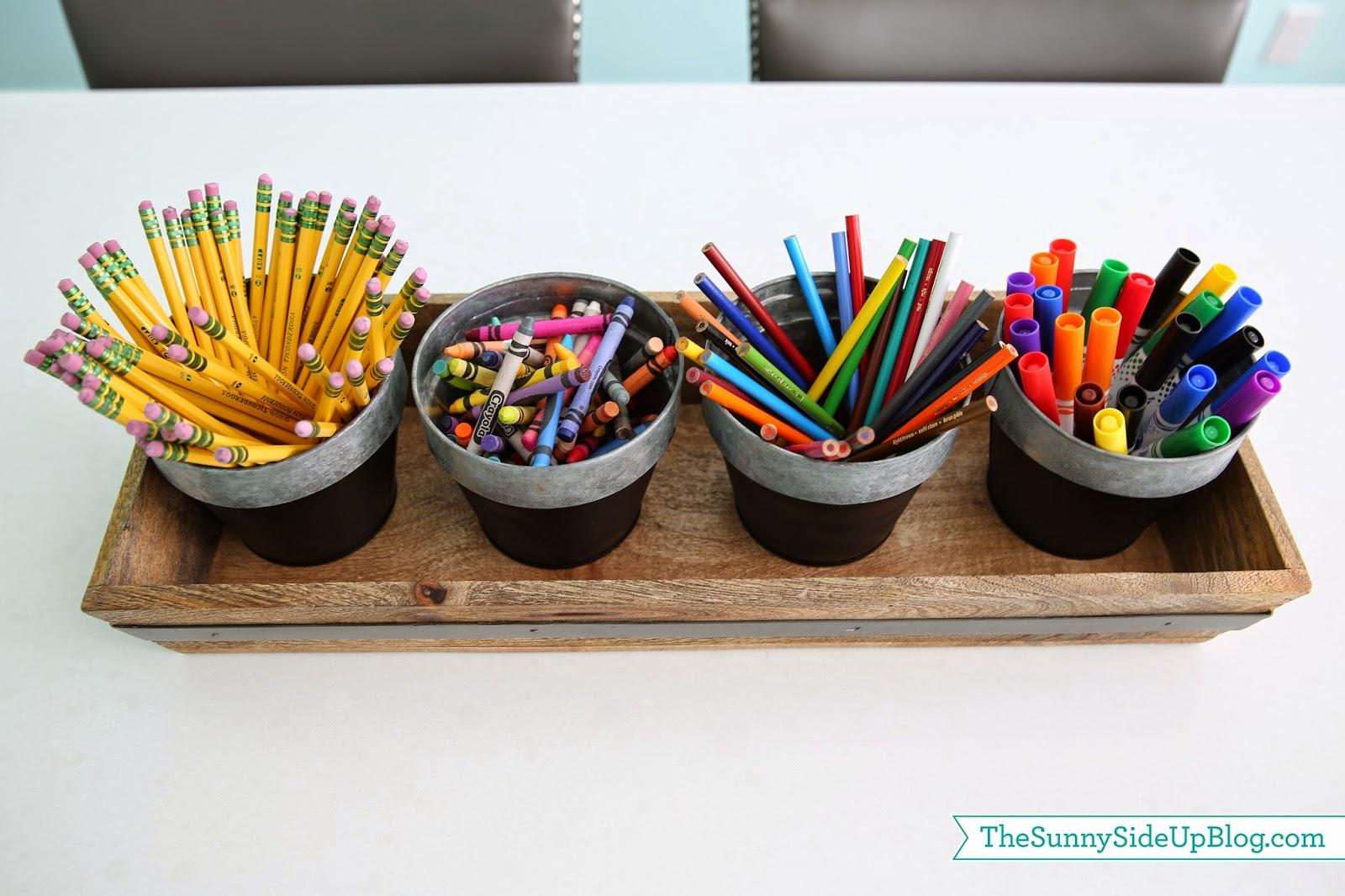 Organized art supplies (a new solution!)