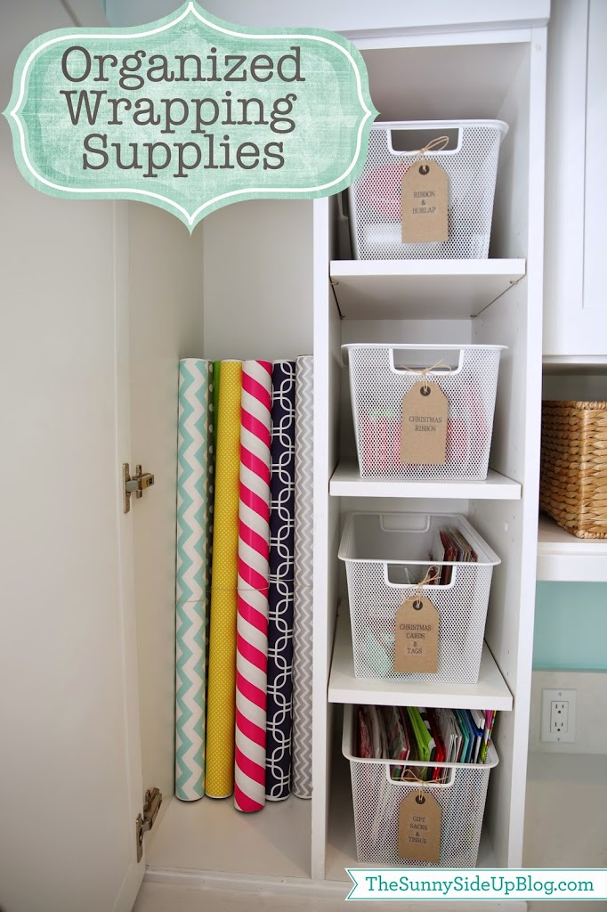 Organized Wrapping Supplies