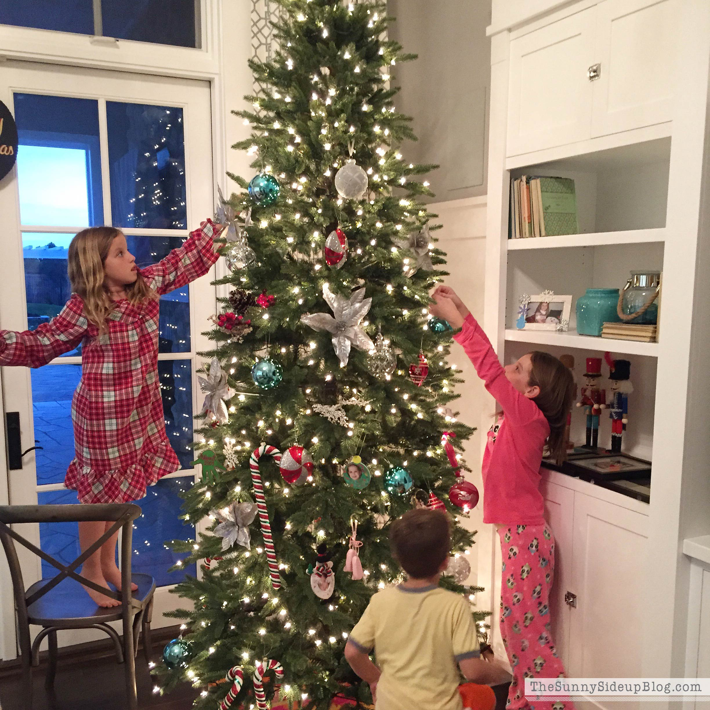 Kids Decorating For Christmas christmas in the family room - the sunny side up blog