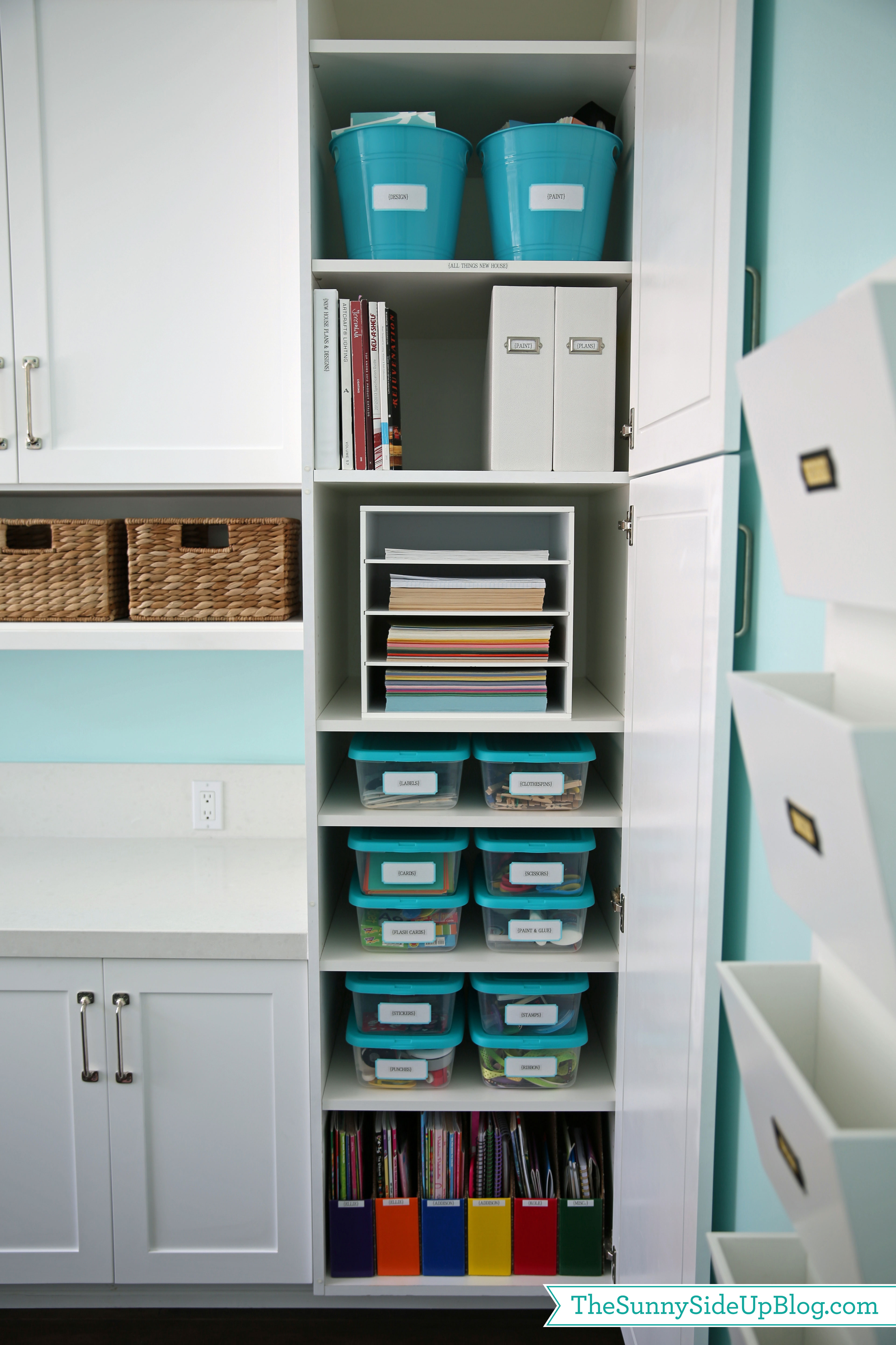 Over 20 ways to organize your home and life the sunny side up blog - Organizing craft supplies in small space collection ...
