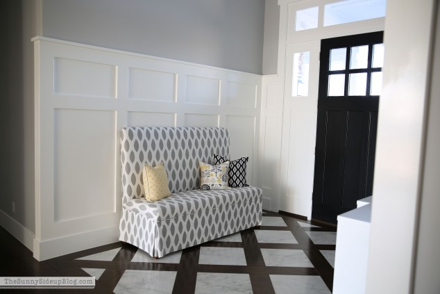 bench-and-trellis-table-in-marble-entry