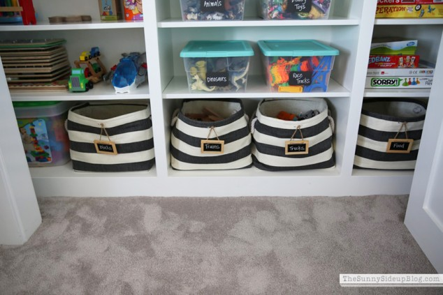 container store striped rigby bins