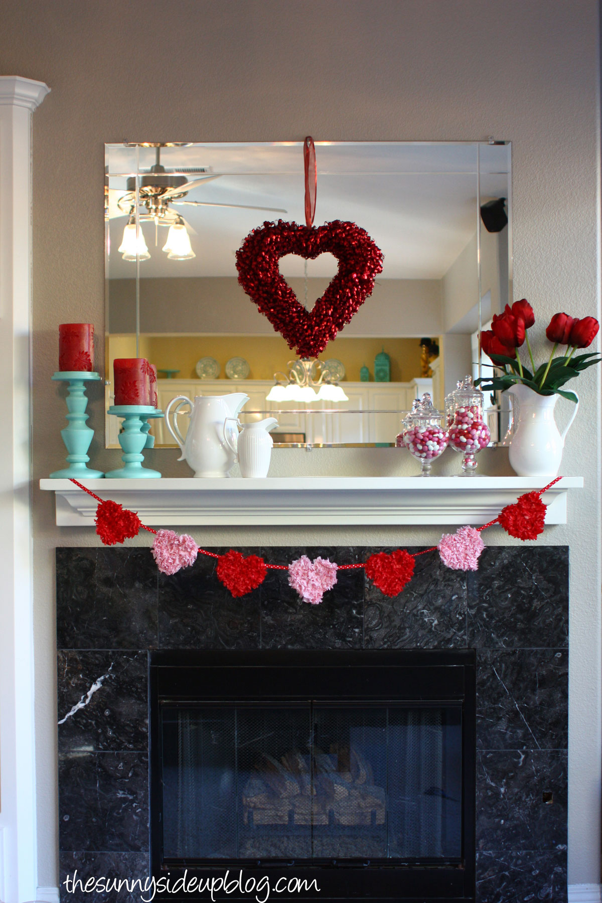 ... Heart Valentine Mantel Decor