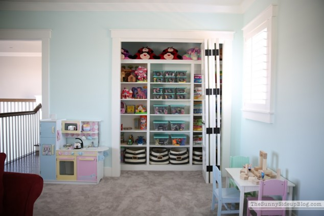 open playroom storage & Organized Playroom - The Sunny Side Up Blog