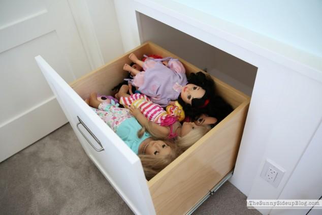 organized dolls