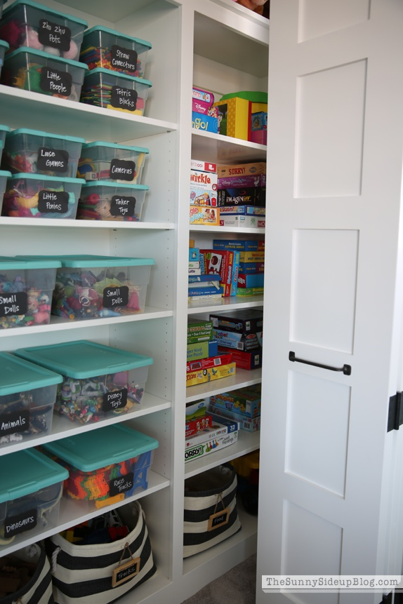 playroom closet toy storage