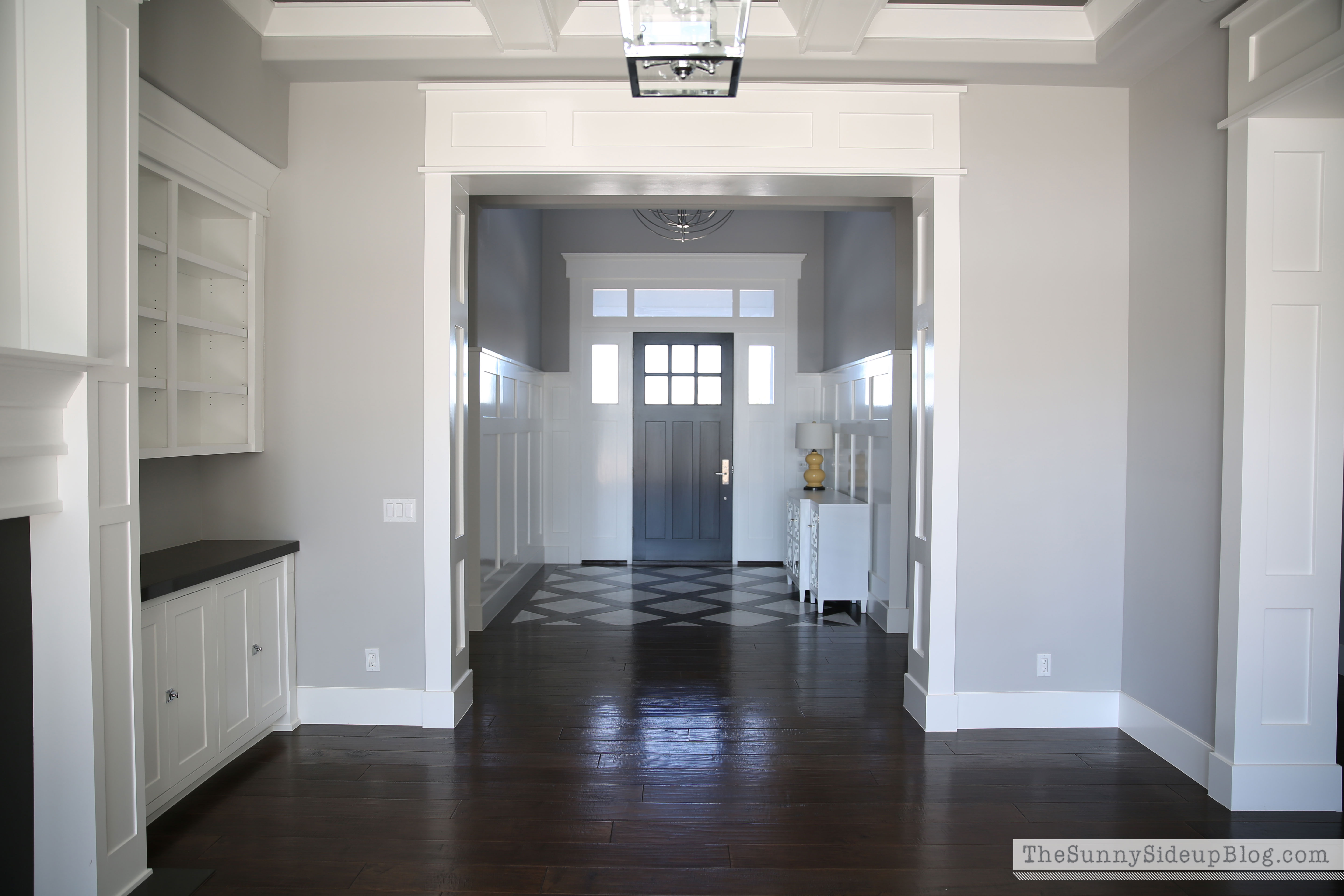 Living room decorating progress the sunny side up blog for Craftsman style molding photos