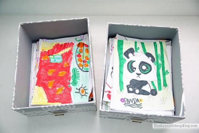 kids organized art