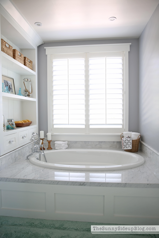 Master Bathroom Shelves/Tub - The Sunny Side Up Blog