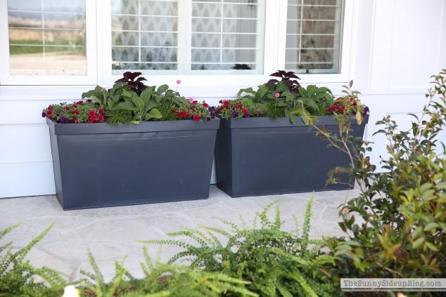 zinc-flower-beds