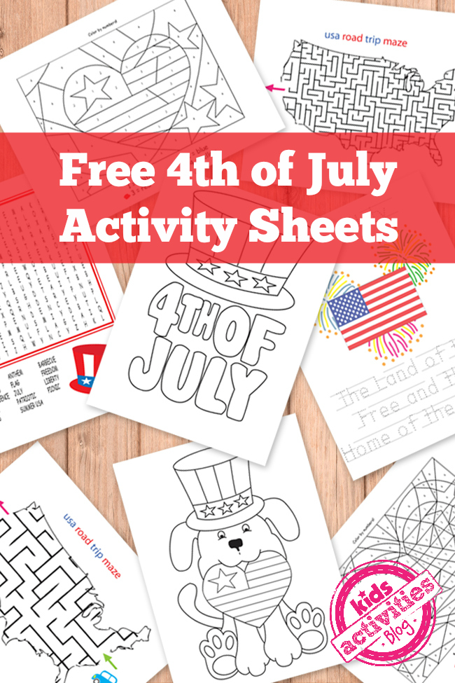 4th-of-july-printable-activity-sheets
