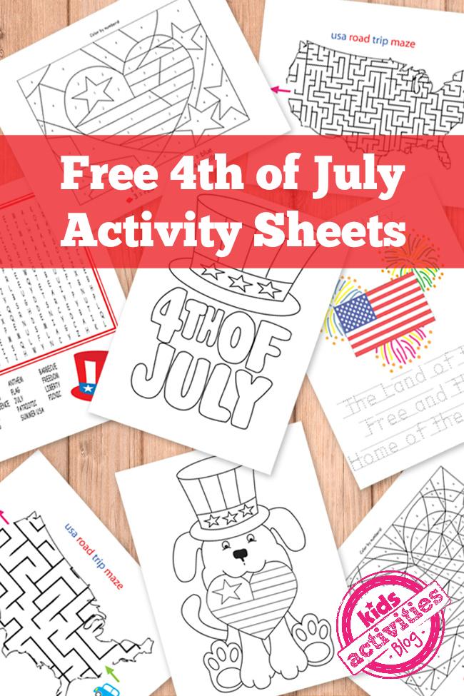 4th-of-july-printable-activity-sheets