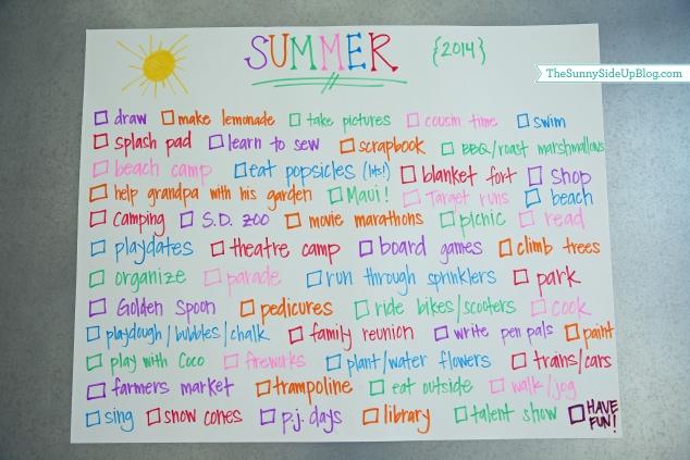 kids summer fun list
