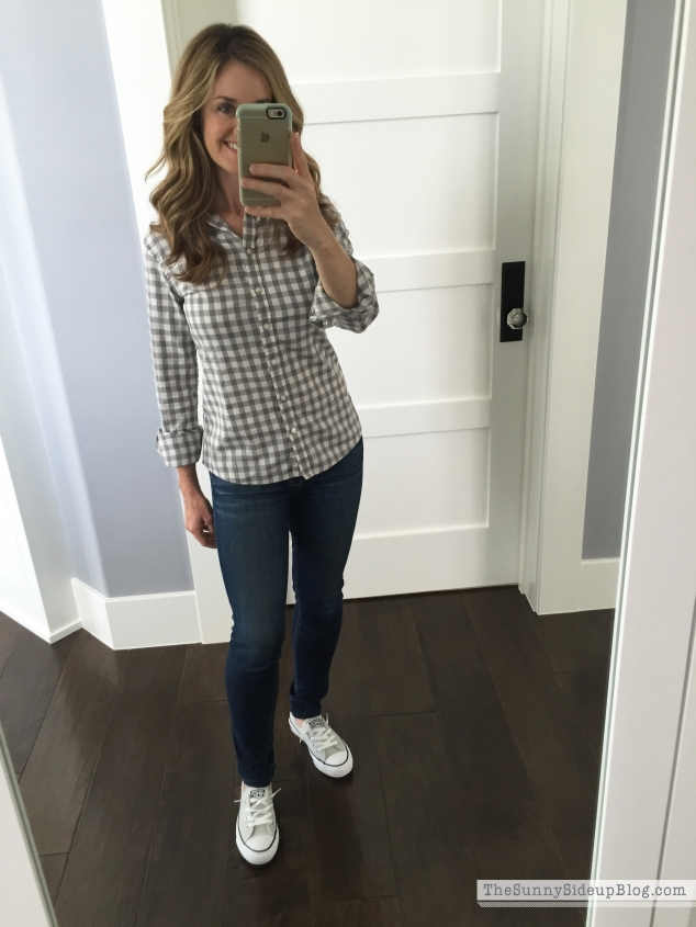 banana republic plaid top