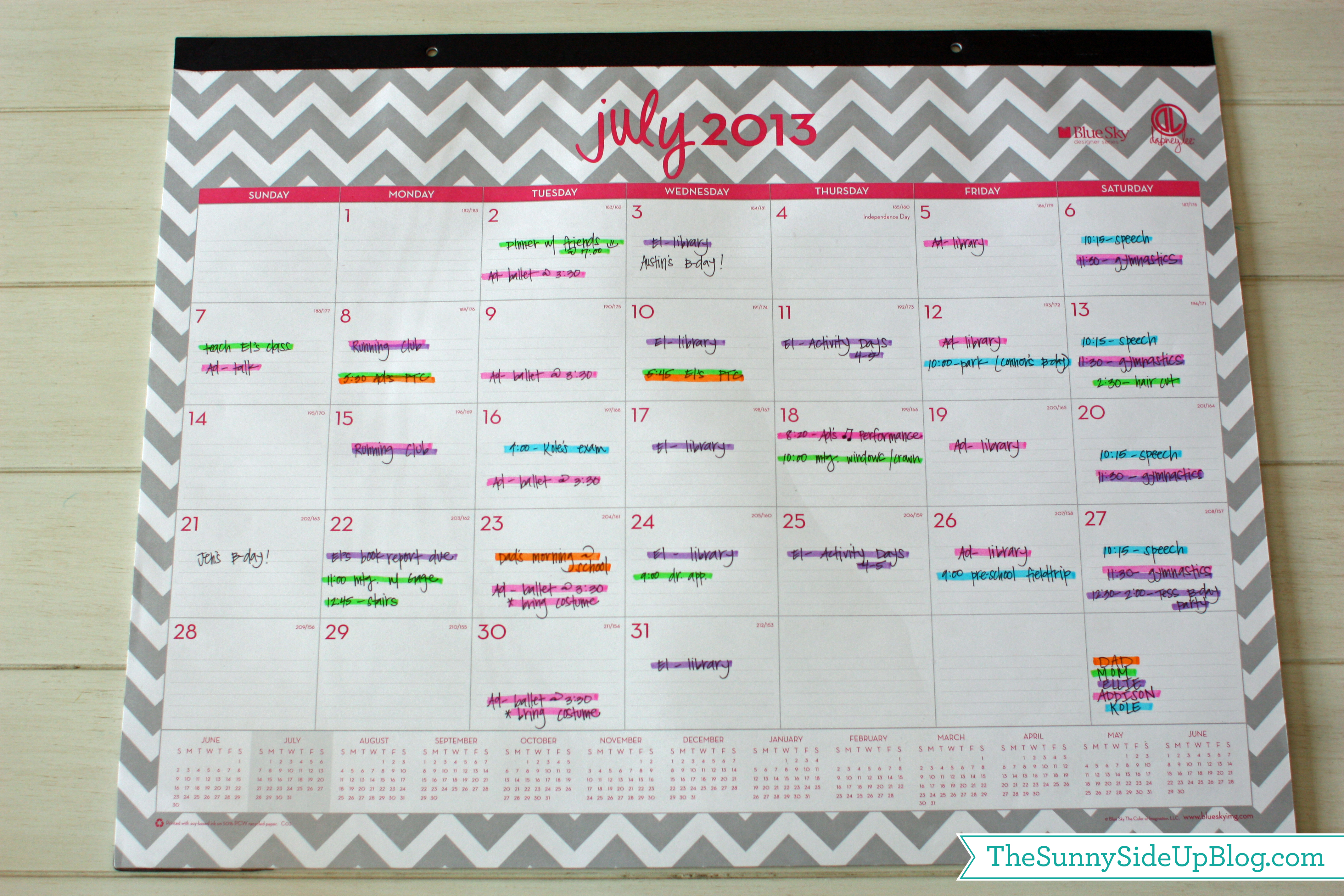 Calendar For Organization : Things to do now get organized for back school