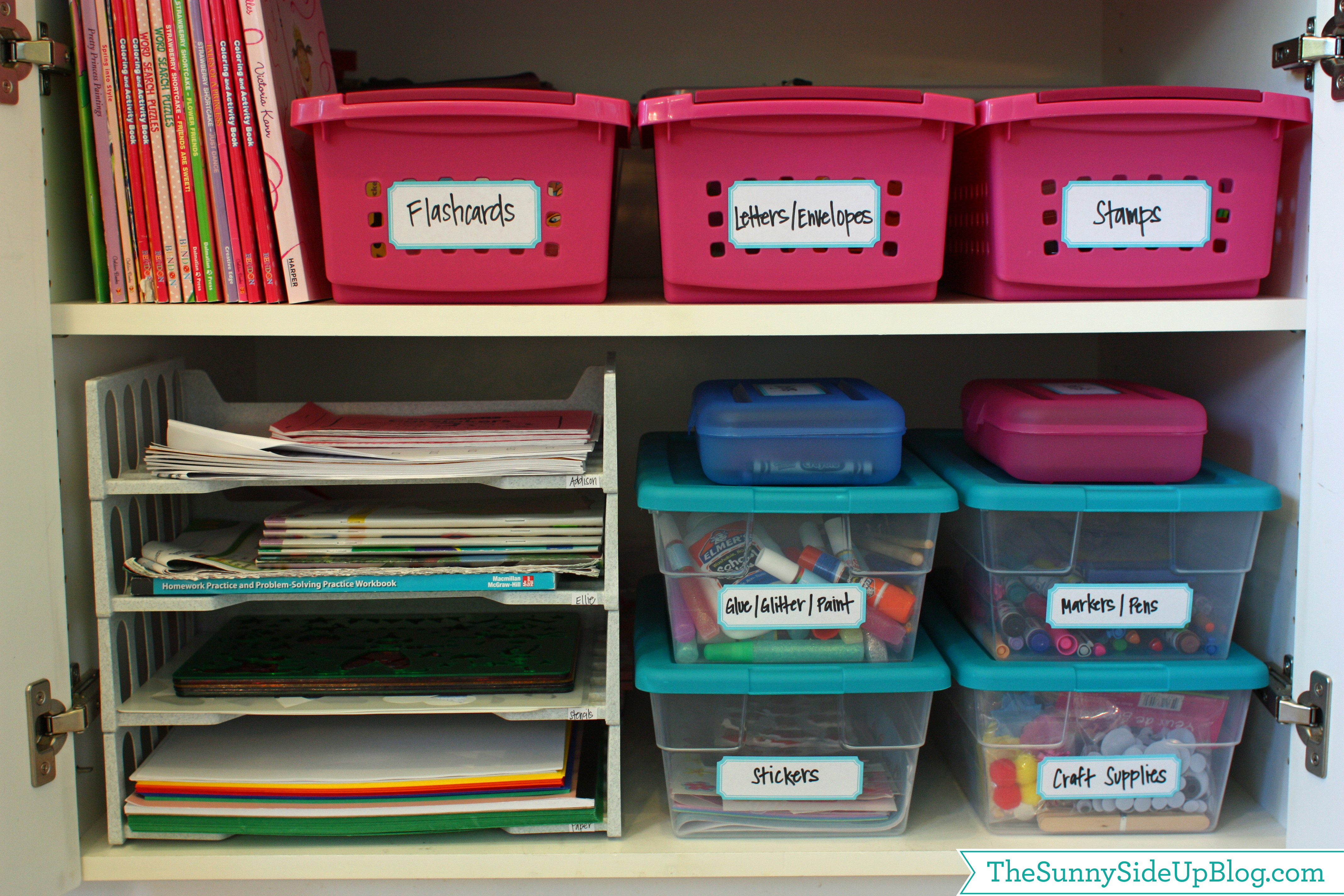 Operation organization school supply organization 11 magnolia lane - Organizing craft supplies in small space collection ...