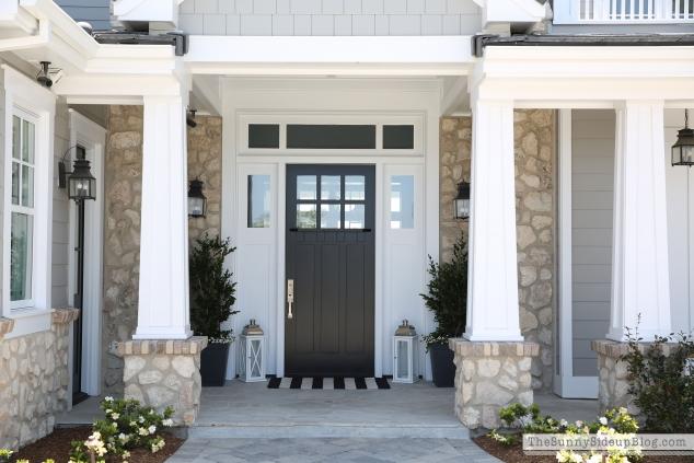 black-craftsman-style-door