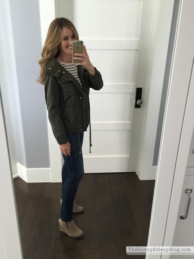 old navy green jacket