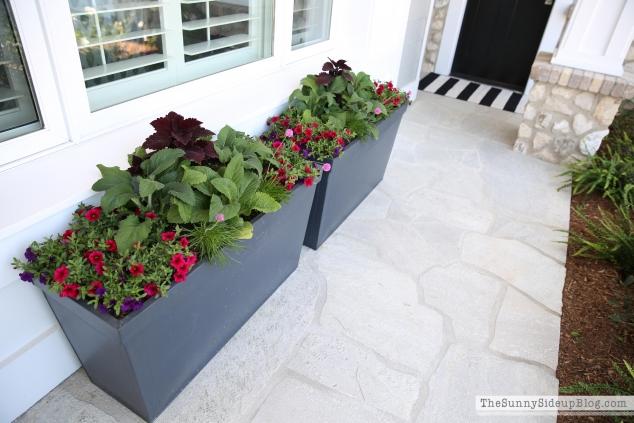 zinc-flower-pots