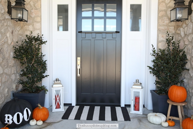 black-craftsman-door
