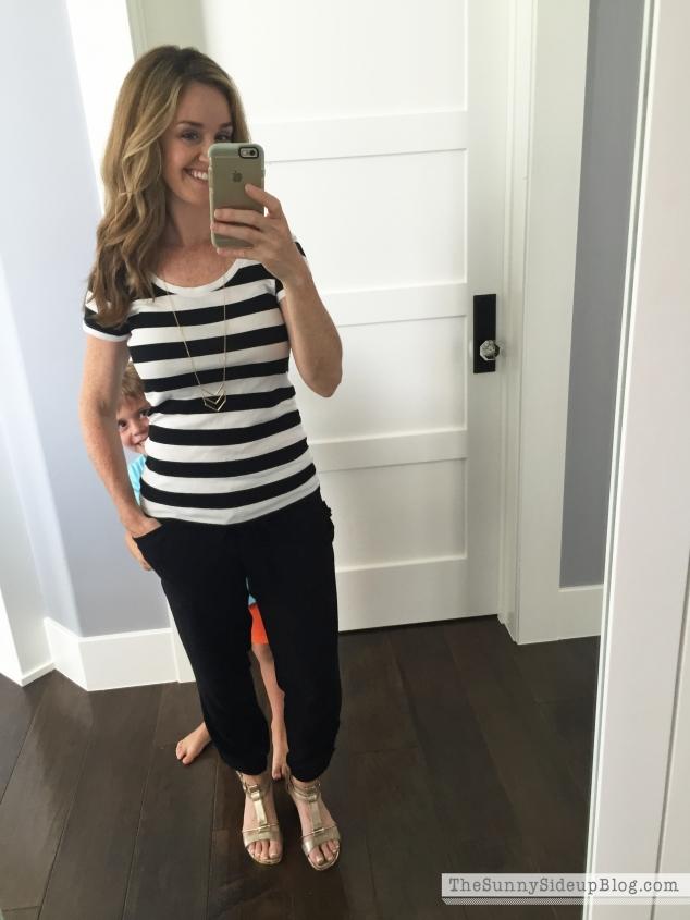 black striped target shirt