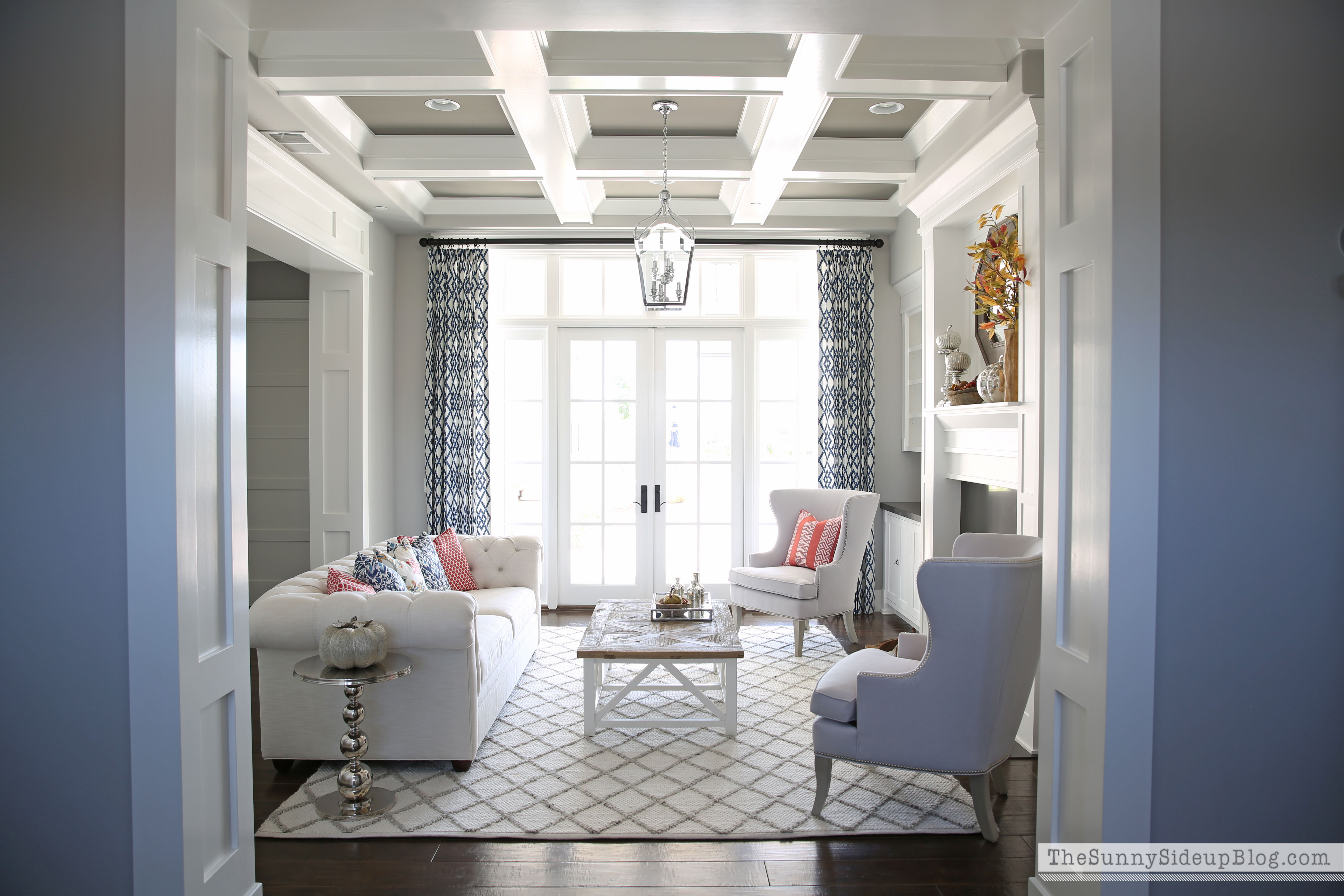 Fall and chairs in the formal living room the sunny for Blog design ideas